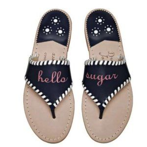 Jack Rogers x Draper James Hello Sugar Navy Sandal